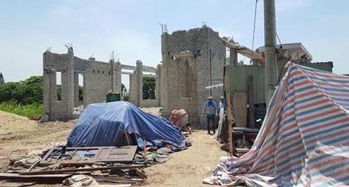 Bê tông tươi làm sập công trình nhà văn hóa thôn