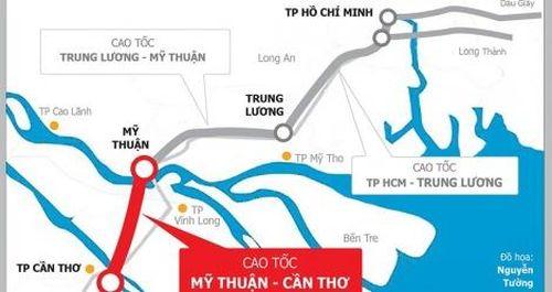 Trình Thủ tướng đề xuất đầu tư 4.827 tỷ đồng xây 22,7 km cao tốc Mỹ Thuận – Cần Thơ