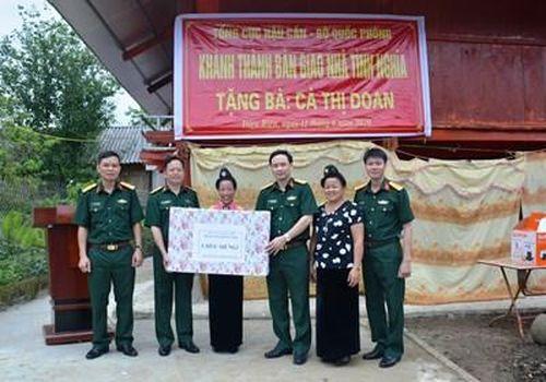 Bệnh viện Quân y 105: Khánh thành, bàn giao nhà tình nghĩa ở Điện Biên