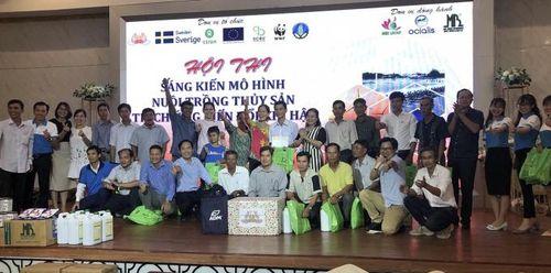 Đội Sóc Trăng đoạt giải đặc biệt thi sáng kiến nuôi trồng thủy sản