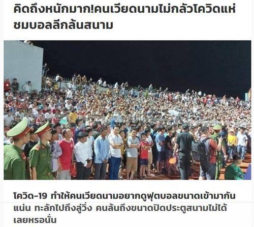Báo Thái Lan choáng ngợp cảnh vỡ sân ở Hà Tĩnh: 'Người hâm mộ như phát điên'