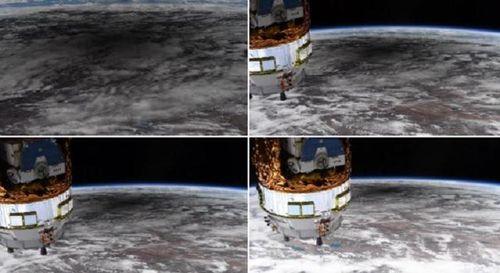 Nhật thực hình khuyên nhìn từ vũ trụ xuống trái đất