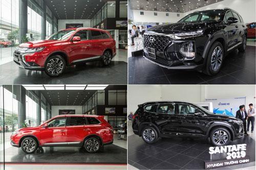 Tầm giá 1 tỷ đồng, chọn Mitsubishi Outlander Premium hay Hyundai Santa Fe 2.4?