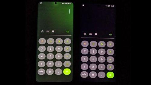 Màn hình điện thoại Samsung bị ám xanh giống iPhone