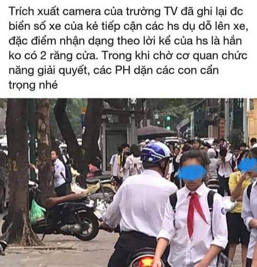 Công an quận Hoàn Kiếm thông tin về vụ 'giả danh xe ôm công nghệ lừa đón học sinh'
