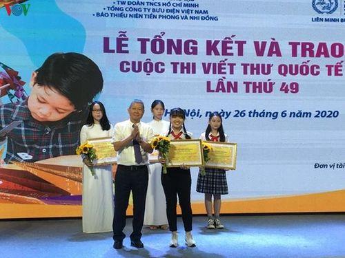 Thư gửi người bán xôi giành giải nhất cuộc thi viết thư UPU lần thứ 49