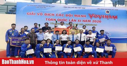 Thanh Hóa xếp thứ nhì toàn đoàn tại giải vô địch các đội mạnh Vovinam toàn quốc 2020
