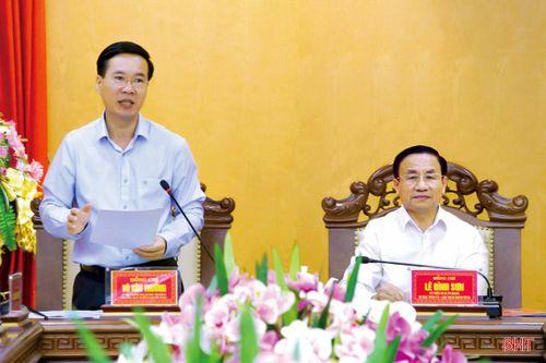 Đoàn công tác Trung ương làm việc với Tỉnh ủy Hà Tĩnh