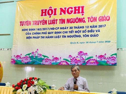 TP.HCM : Phổ biến pháp luật cho Tăng Ni Q.6, Bình Thạnh