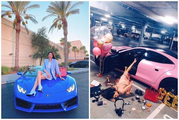 Định giá 'siêu bò tót' Lamborghini Huracan xanh dương của Hoa hậu Phạm Hương