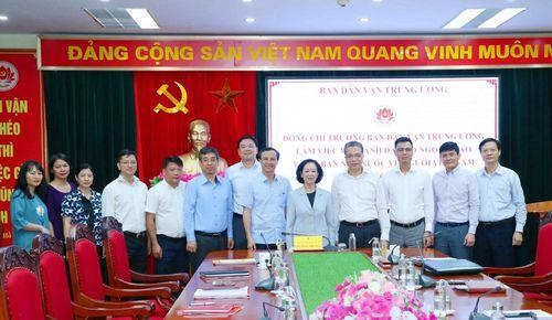 Ban Dân vận Trung ương làm việc với Bộ Ngoại giao và Ủy ban Nhà nước về người Việt Nam ở nước ngoài