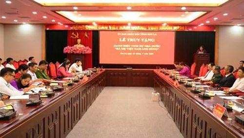Truy tặng danh hiệu cho 4 'Bà mẹ Việt Nam anh hùng' tại Sơn La