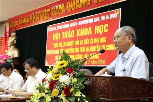 Tôn vinh 3 vị Tiến sĩ Nho học họ Nguyễn ở Ninh Giang