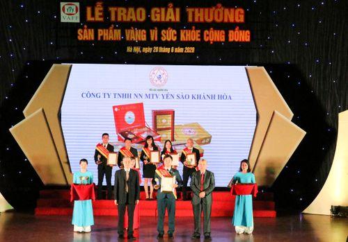 Yến sào Khánh Hòa nhận giải thưởng 'Sản phẩm vàng vì sức khỏe cộng đồng năm 2020'