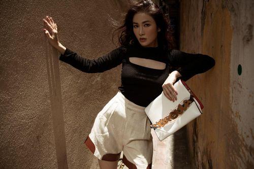 Hoa hậu Tuyết Nga gợi ý trang phục dạo phố cho cô nàng cá tính