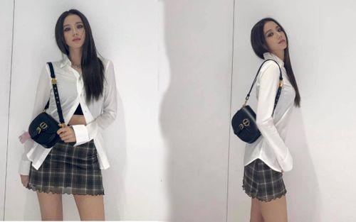 Jisoo BlackPink đổi style gái hư khi bung nút áo sơ mi hững hờ