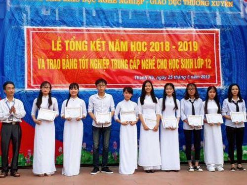 Trung tâm GDNN-GDTX huyện Thanh Hà: Lá cờ đầu quy mô và chất lượng