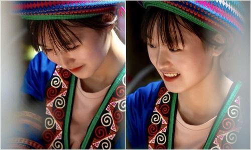 Thiếu nữ H'mông xinh đẹp ngồi dệt vải khiến bao chàng trai thổn thức, muốn lên Hà Giang gặp mặt