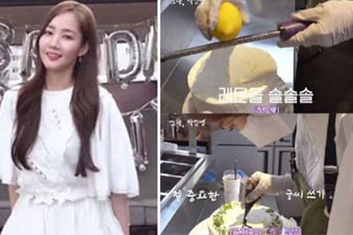 'Thư kí Kim' Park Min Young gây bất ngờ với hình ảnh vào bếp làm bánh, nhan sắc ở đời thường mới là điều đáng nói