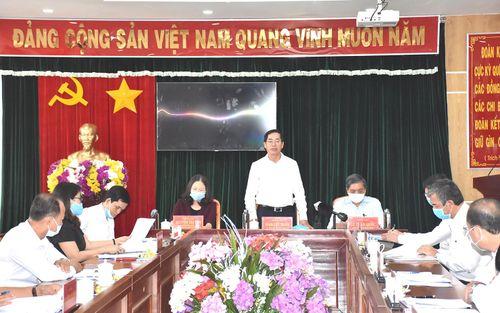 Ông Phạm Viết Thanh, Ủy viên Trung ương Đảng, Bí thư Tỉnh ủy làm việc với lãnh đạo huyện Xuyên Mộc