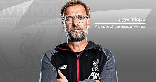 Jurgen Klopp giành giải HLV xuất sắc nhất Ngoại hạng Anh