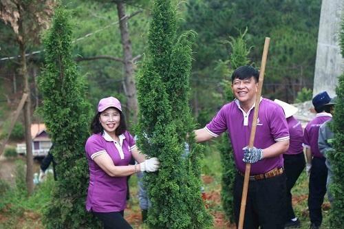 TTC Lâm Đồng trồng 1.000 cây xanh mừng Ngày Quốc khánh