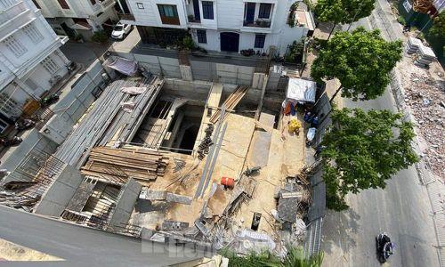 Nhà riêng lẻ 4 tầng hầm ở Hà Nội gây xôn xao từng bị xử phạt 2 lần