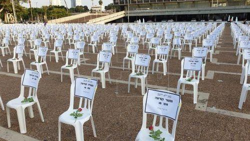 Israel xếp hơn 1.000 chiếc ghế để tưởng nhớ các nạn nhân COVID-19