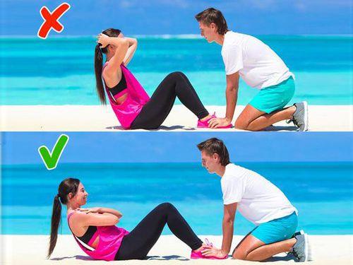 Những tư thế tập luyện sai dễ gây đau thắt lưng