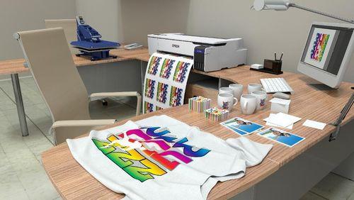 SureColor F530: Máy in vải chuyển nhiệt kỹ thuật số để bàn cho quần áo và tặng phẩm