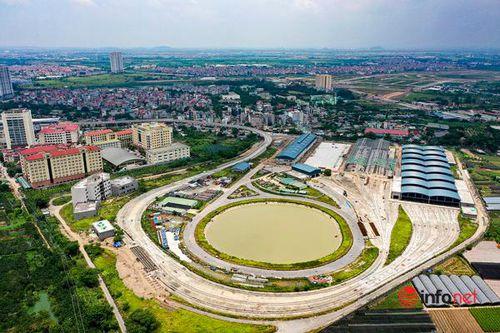 Cận cảnh tuyến đường sắt trên cao Nhổn – ga Hà Nội đang thi công gấp rút