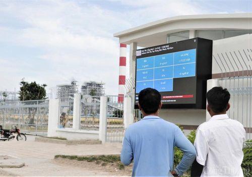 Nhà máy Vĩnh Tân 2 và Mông Dương 1 lắp bảng điện tử để người dân giám sát về môi trường