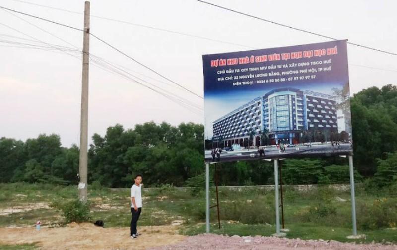 Thừa Thiên Huế: Chậm tiến độ, Tisco Huế phải trả lại dự án nhà ở sinh viên 8.000m2