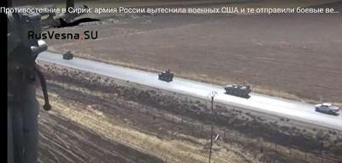 Trực thăng Mỹ vây đoàn xe quân sự Nga ở đông bắc Syria