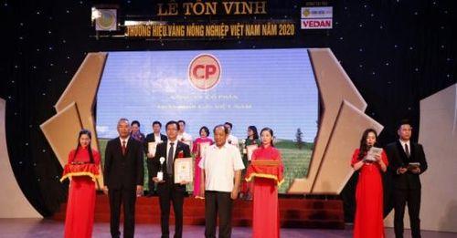 C.P. Việt Nam có 3 sản phẩm Thương hiệu Vàng nông nghiệp Việt Nam 2020