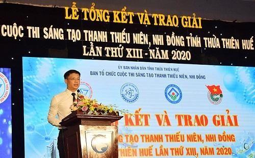 Thừa Thiên Huế: Trao giải Cuộc thi Sáng tạo Thanh thiếu niên và Nhi đồng năm 2020