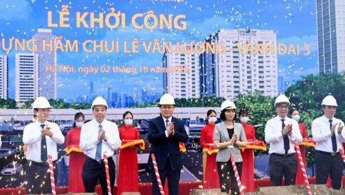 Khởi công dự án hầm chui nút giao Lê Văn Lương - Vành đai 3