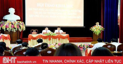 Bàn giải pháp nâng cao chất lượng đào tạo, bồi dưỡng cán bộ tại Trường Chính trị Trần Phú
