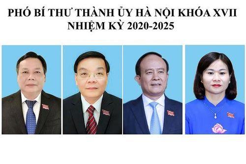 Quá trình công tác của 4 Phó Bí thư Thành ủy Hà Nội khóa XVII nhiệm kỳ 2020-2025
