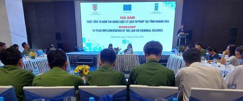 Tọa đàm về thi hành Luật Lý lịch tư pháp tại tỉnh Khánh Hòa