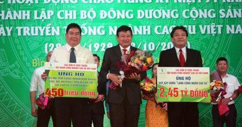 Đóng góp gần 5,6 tỉ đồng xây dựng làng công nhân cao su