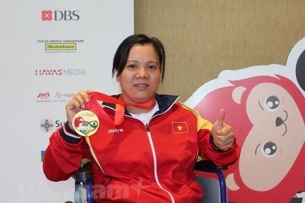 ASEAN Para Games 8: Cử tạ Việt Nam vượt chỉ tiêu huy chương vàng