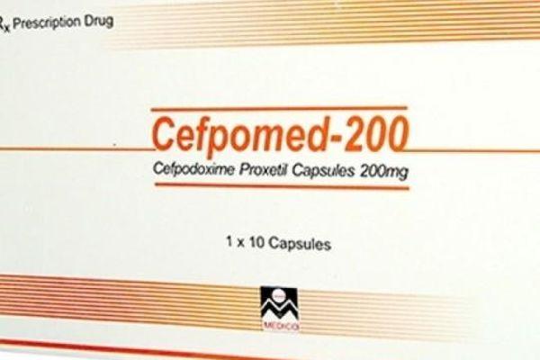 Thu hồi thuốc kháng sinh Cefpomed-200