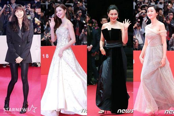 Thảm đỏ LHP Busan 2018: Lee Na Young giản dị, đọ sắc cùng minh tinh Soo Ae, Lee Honey và Park Gyuri