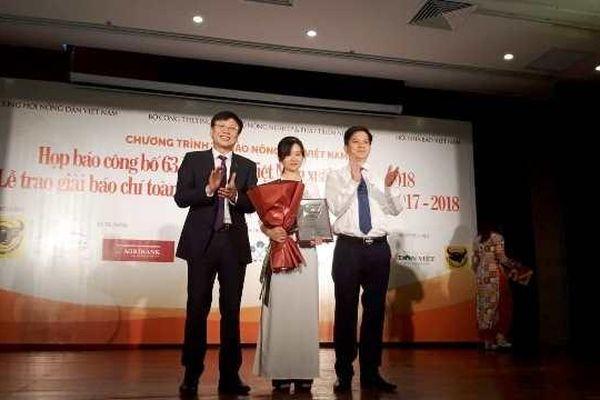 11 tác phẩm xuất sắc đoạt Giải báo chí toàn quốc 'Tự hào Nông dân Việt Nam'