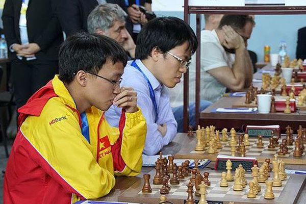 Cờ vua Việt Nam tiến gần top 10 Olympiad