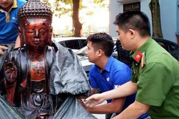 Bắt 4 đối tượng trong ổ nhóm chuyên trộm cắp, tiêu thụ tượng Phật