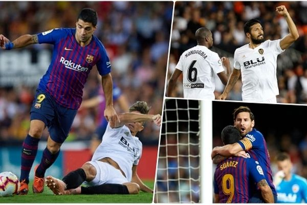 Toàn cảnh Valencia 1-1 Barca: 'Gã khổng lồ' đánh rơi ngôi đầu