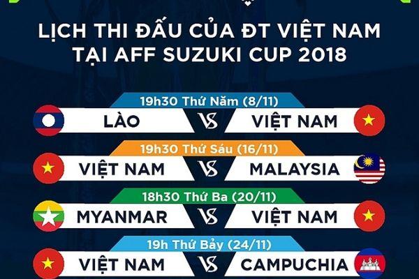 K+ phát sóng toàn bộ trận đấu AFF Suzuki Cup 2018