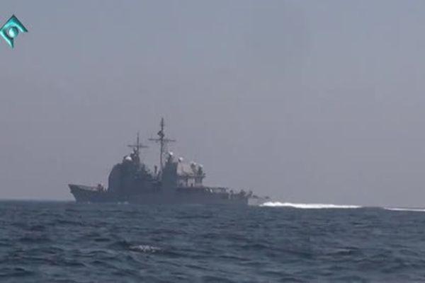 Hải quân Iran chặn tàu chiến Mỹ trên vịnh Ba Tư